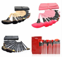 24 pcs makeup brush Set Make- up Toiletry Kit Wool Brand Make...