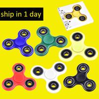 Hand Spinner Fingertips Spirale Fingers Fidget Spinner EDC Spinner à la main Plastique acrylique Fidgets Jouets Gyro Toys avec boîte de vente DHL OTH348