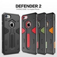 Nillkin Defender 2 génération pour iPhone 7 cas 2 en 1 étuis pour téléphone cellulaire anti chute de luxe protection de téléphone cellulaire achats gratuits