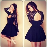 Whole- sale Sexy Lace Long Sleeve Dresses, A- line Dresses For ...