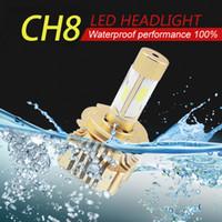 2 PCS Car Headlight Bulb Hi- Lo Beam COB LED Headlights 80W 8...