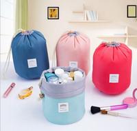 50pcs lot 17*23cm Barrel Shaped Travel Cosmetic Bags Make Up...