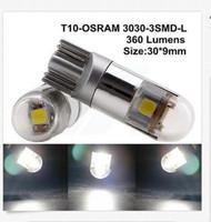100PCS T10 OSRAM 3030 3SMD light bulb with Len W5W 192 168 L...