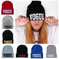 Women VOGUE Beanie Hip Hop VOGUE Hats Handmade Knitted Hats ...