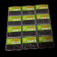 1200pcs 12box NO. 1- 12 High Carbon Steel Ise Barbed Hook Fish...
