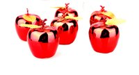 480pcs Christmas Decoration Gold Red Apple Pendant Christmas...