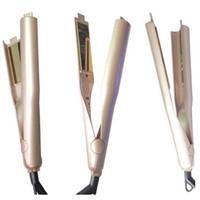 Настройка логотипа свой собственный логотип бренда щетка для выпрямления волос Gold титановые пластины для укладки волос инструменты Бесплатная доставка
