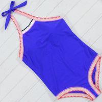 Marca 2017 Hot One Piece Swimsuit Halter Sexy Monokini Crochet Swimwear Mulheres Exclusivo Swimsuit Bodysuit Alta Qualidade Trikini