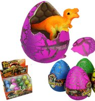12шт / комплект Растущие яйца динозавров Pet расти Dino вылупления Hatch Яйцо с Трещины Add Water Магия Штриховка Выращивание Дино Яйца KKA1038