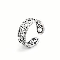 Top Ring Styles Grade Silver Band Anneau Finger Rings Pour Femmes Fille Party Open Size Jewelry RS03900