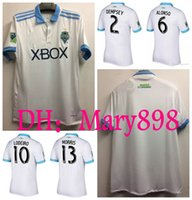 Top qualité thaïlandaise 17 18 Maillots de football Seattle Sounders à partir de 2017 2018 LODEIRO MORRIS ALONSO DEMPSEY TORRES chemises de football à domicile