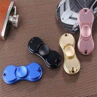 4 colores nuevos HandSpinner dedo dedos espirales Gyro Torqbar latón juguetes Popular juguetes de aluminio rosa negro azul oro CCA5636 70pcs