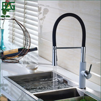 Wholesale- FLG English Style Kitchen Faucet White & Chrome A...