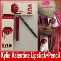 Кайли Дженнер Lipkit Валентина Edition красивый набор губная помада + губная помада Lipgloss Высокое качество Валентина подарок 12 цветов