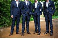 Top Selling Men Tuxedo 2017 Cheap Navy Grooms Tuxedos 100% H...