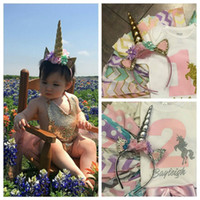 Kids Children Unicorn Horn Headband Party Supplies DIY Hair ...