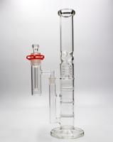 18 pouces big bong avec ASH catcher marque rigides de verre pipes d'eau pipe de fumée Percolateur en verre Water Pipe Bong