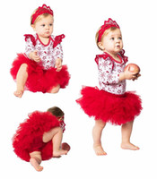 Baby Girls Christmas Rompers Sets 2017 Newbown Jumpsuit+ Head...