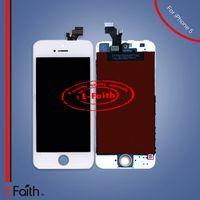Pour l'iPhone 5 blanc écran tactile Digitizer LCD Assemblée Remplacement Livraison gratuite DHL