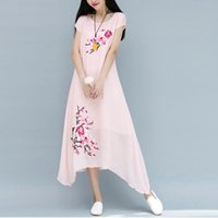 Casual Dresses for Women Summer Linen Dresses Women Clothing...