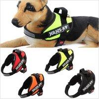 8 цветов Светоотражающие собак Harness Vest JULIUS K9 Средний Большой Pet Кинологический жилет нейлон Нагрудный тяговый с ручкой CCA5297 60pcs