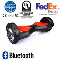 STOCK AUX ÉTATS-UNIS! 8 pouces Smart Balance Wheel Hoverboard deux roues Self Balance Wheel Scooter Remote Led Lights