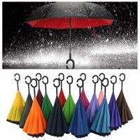 Creative Inverted Umbrellas Double Layer With C Shape Handle...