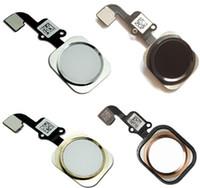 New Home Button Main Menu Clé Flex Cable Pièces de rechange pour iPhone 6S 6S Plus 4.7 5,5 pouces Livraison gratuite