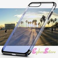 Pour iPhone 7 6 6 Plus Gradient Couleur PC Phone Cases Hybrid Cover Clear Crystal Case pour téléphone portable iphone 6 7 plus