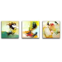 3 Картинная комбинация Wall Art Painting Абстрактная акварель холст картины с деревянным обрамлении для домашнего декора в качестве подарков