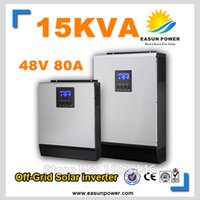 Горячее надувательство солнечного инвертора 15kVA 12KW 48V к 220V / 380V с инвертора сетки 80A MPPT чисто инвертор 60A волны синуса инвертора