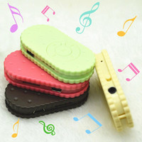 Wholesale- Lovely Cartoon Mini Cookies Biscuits MP3 Player S...