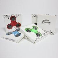 6 цветов ABS Ручка Spinner Tri Fidget 608 Керамическая игрушка для настольного тенниса EDC Чулок Stuffer Для декомпрессии тревоги Finger Toys For Killing Time