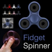 New EDC Hand Spinner Finger Toys pour Fidget Spinner Metal FrostedGyro Décompression Anxiety Toys With Retail Package