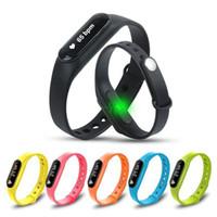 30pcs C6 Smart Wristband Affichage OLED bouton tactile Fitness Bracelet cardiofréquencemètre Sleep Tracker Podomètre Santé Horloge