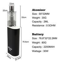 Super smoke mods Karnoo 30W mod e cigarette cloud vape 3ml m...