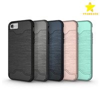 Card Slot Case For iPhone 7 Plus Armor Case Hard Shell Back ...