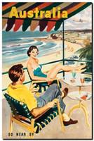 Чистая Ручная роспись Современная портретная живопись Масляная живопись Австралия Так недалеко от пляжа, Home Wall Decor Высокое качество Холст Много размеров