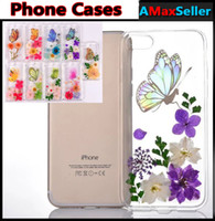 Beautiful True Flowers Preservation Butterfly Phone Cases TP...