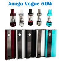 Горячие Продажа Amigo Vogue 50W комплект с мини-Riptide Катушки 5 цветов, доступных Kit Vogue 50W против Amigo Mini Vogue 50w Kit