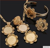 hot sell Ethiopian Coin Jewelry sets America&Canada&Israell&...
