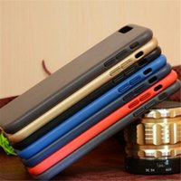 Plated Metal Button Slim Leather case for iphone 7 7 plus Cl...