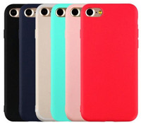 TPU Soft Matte Thin Case résistant à la saleté Protect Housse de protection pour iPhone 7 7 Plus 6S / 6 6S / 6 Plus 5 / 5S / 5SE