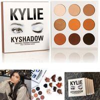 IN STOCK Kyshadow Kit Кайли Дженнер Прессованная пудра для теней для век Kylie Cosmetics из бронзовой палитры Waterproof Eyeshadow 9 цветов / комплект