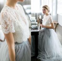 Vintage 2017 Country Wedding Dresses Beach Bohemian Lace Tul...