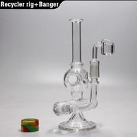 8''perc Recycler bong mini verre plate-forme de pétrole bong verre bubbler pipe d'eau pipe hookahs plate-forme avec quartz banger