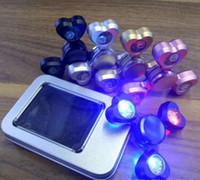 Liga de alumínio LED Heart Shape HandSpinner 5 cores Fingertips espiral Dedos Gyro Torqbar Fidget Spinner Descompressão Brinquedos OOA1496