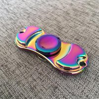 Colorful Rainbow Zinic Alloy Hand Fidget Finger Gyro Spinner...