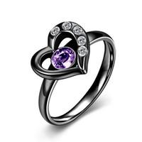 2017 high quality jewelry stainless steel jewelry purple hea...