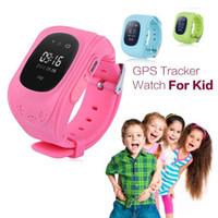 Nouveau Smart Phone Watch Enfants Kid Wristwatch Q50 GSM GPRS Localisateur GPS Tracker Anti-Lost Smartwatch Child Guard pour iOS Android